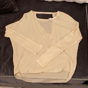 Chaser Brand Ivory beige top blouse new